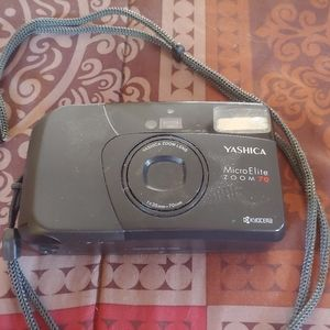 Vintage Yashica Micro Elite Zoom 70 Camera & Case